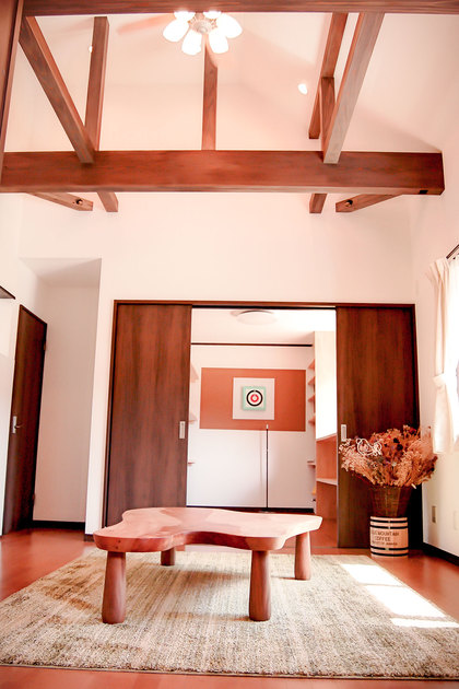 傾斜のある天井