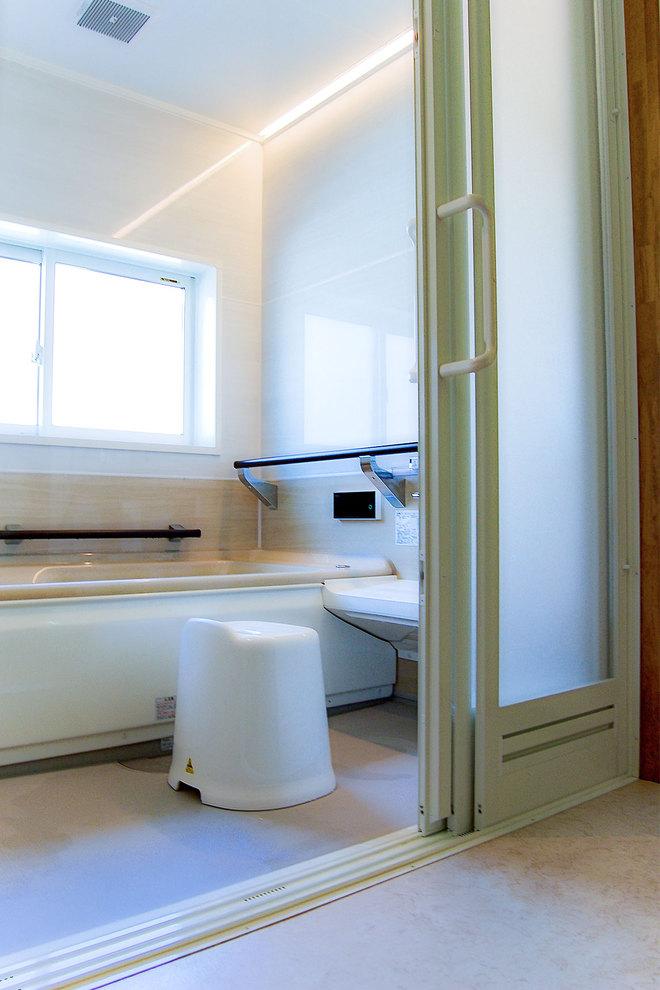 浴室と脱衣所の段差解消