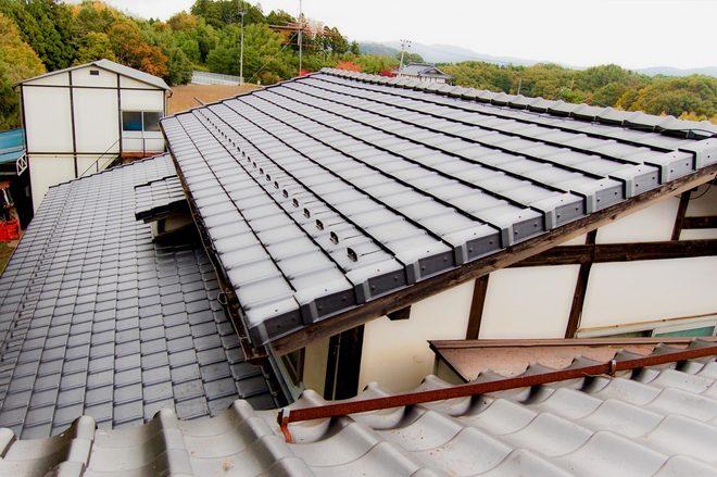 耐震工法で葺き替え
